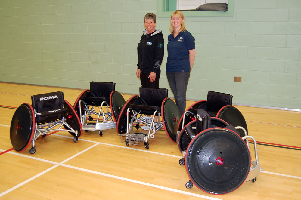 Amanda and Vicky at Llandarcy Sports Academy